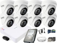Hikvision Hiwatch 8 kamerowy zestaw do monitoringu HD
