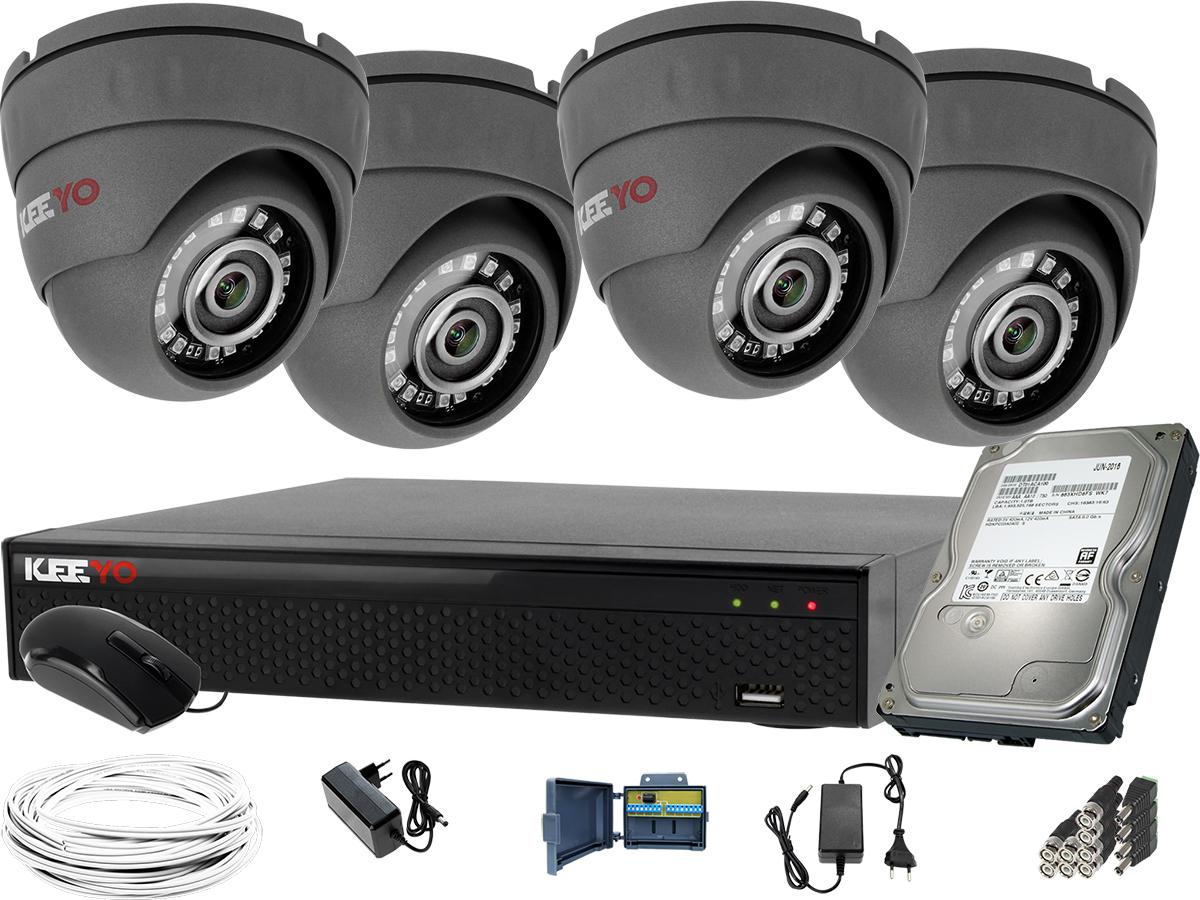 a77a5291fece92 Monitoring zestaw 4 x kamera IR25m LV-AL25HD Rejestrator LV-XVR44SE P2P 1TB