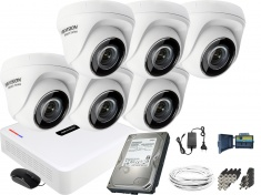 Monitoring zestaw Hikvision Hiwatch 6 Kamerowy HD