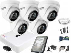 Monitoring zestaw Hikvision Hiwatch 5 Kamerowy HD