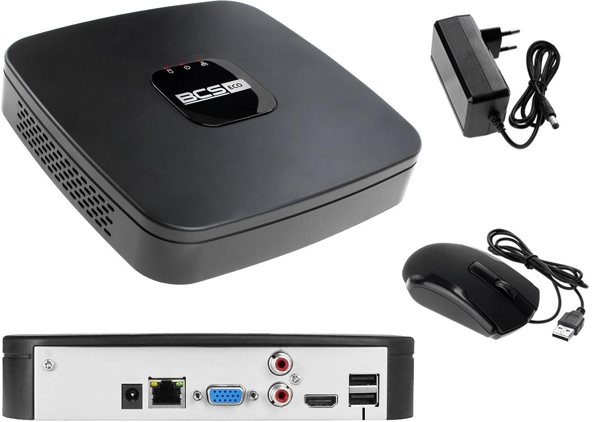 Młodzieńczy Zestaw do monitoringu: Rejestrator BCS-NVR04015ME-II + 1x Kamera AL99