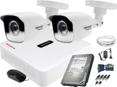 Zestaw do monitoringu Hikvision 2 kamerowy Hiwatch HD
