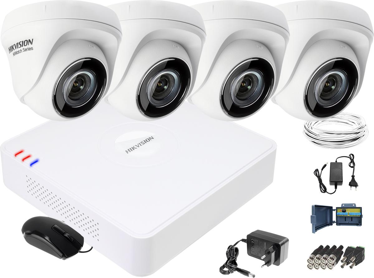 c3ef8e2768d11c Zestaw do monitoringu HD Hikvision Rejestrator cyfrowy 4 kamery ...
