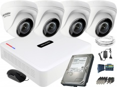 Zestaw do monitoringu Hikvision 4 kamerowy Hiwatch HD