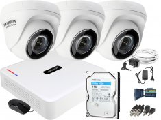 Zestaw do monitoringu Hikvision 3 kamerowy Hiwatch HD