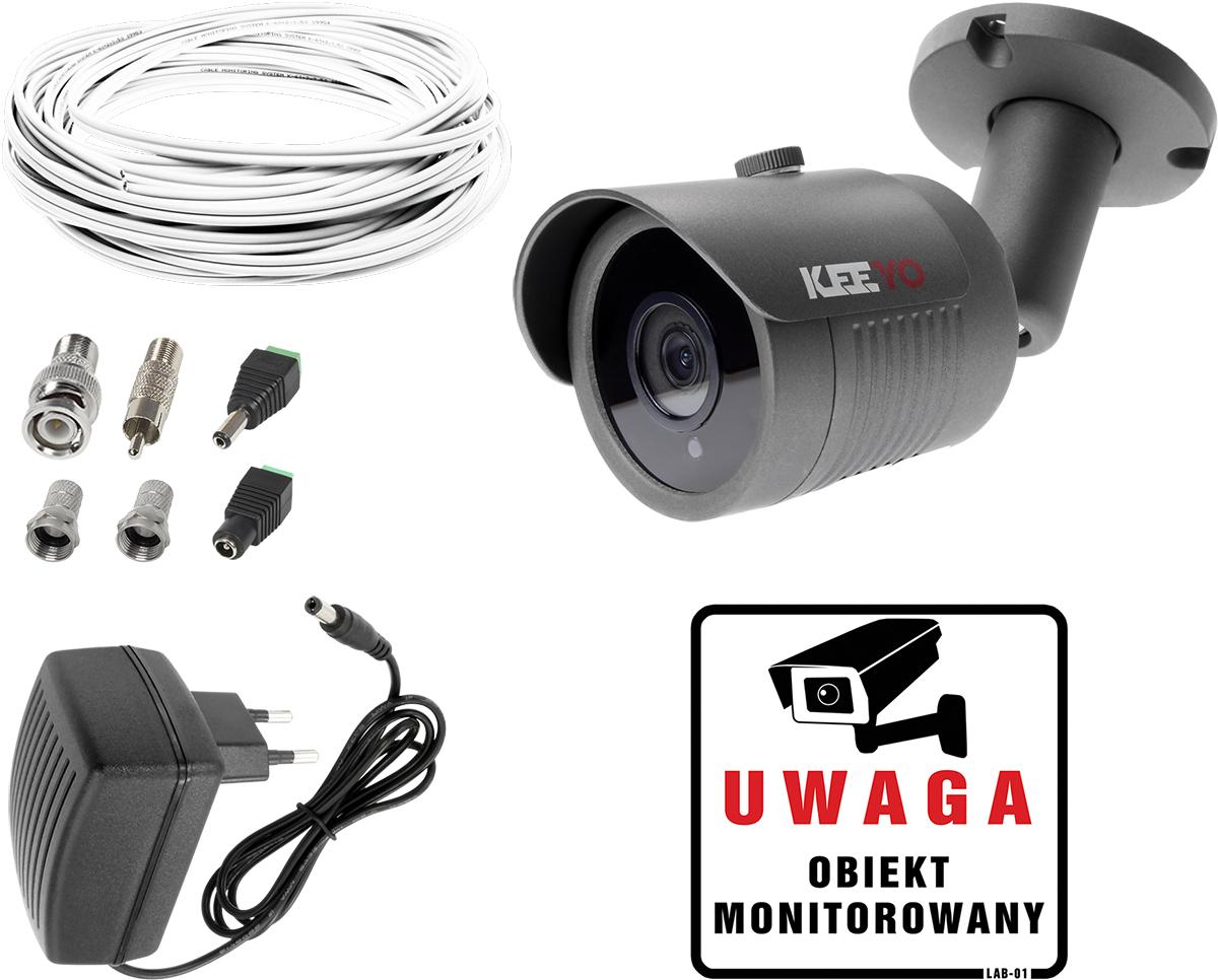 10b23c345749ea Zestaw do monitoringu domu mieszkania kamera LV-AL30HT Zasilacz Przewód  akcesoria podgląd na TV