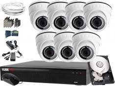 Zestaw do monitoringu Keeyo Full HD 2MPx H265+ IR 25m 7 Kamer