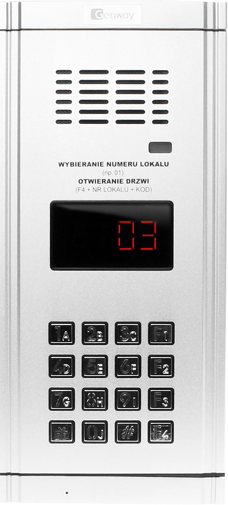 Zestaw Domofonowy 6 Rodzinny Wl 03nl Sklep Genway Intercom Wiring Diagram