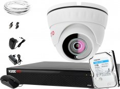Zestaw do monitoringu Keeyo Full HD 2MPx H265+ IR 25m 1 Kamera