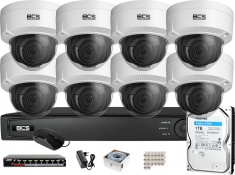 Zestaw monitoringu BCS View Rejestrator IP 8x Kamera 2MP BCS-V-DI221IR3